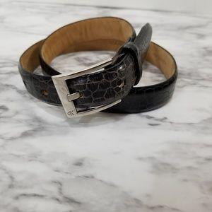 Calvin Klein Italian alligator calfskin belt